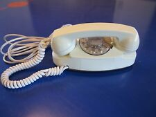 Vtg Ivory Western Electric Bell System Princess Rotary Dial Desk Telephone 702B