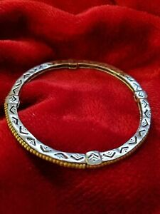 Silpada Sterling Silver & Brass/Mixed Metals Arrowhead Stretch Bangle/Brace NWOT