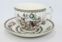 Vintage Johnson Bros England Indian Tree pattern Tea Cup & Saucer
