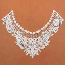 1pcs Embroidered Flowers Lace Collar Applique Clothing Sewing Fabric Accessories