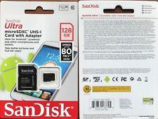 SanDisk 128GB Ultra Memory Card Micro SD SDXC UHS-1 CLASS 10 80MB/s + SD Adapter