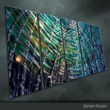 Metal Original Metal Wall Art Abstract Painting Indoor-Outdoor Decor Zenart