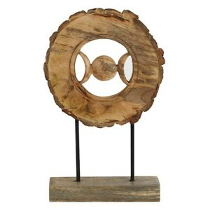 Wooden Triple Moon Ornament A Stunning Natural Rustic Design For Your Home H26.5