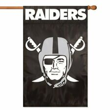 OAKLAND RAIDERS House Banner Flag PREMIUM Outdoor DOUBLE SIDED Embroidered