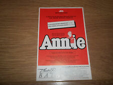 "THEATRE ROYAL BATH "" ANNIE "" ORIGINAL HANDBILL / FLYER 1987"