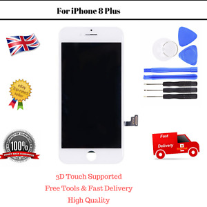 LCD iPhone 8 Plus White Touch Screen Replacement Digitizer Assembly with Tools