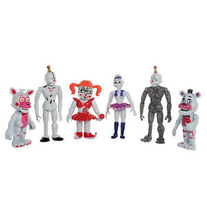 6 PCS Five Nights At Freddy's FNAF Sister location Action Figures Doll Toys Gift
