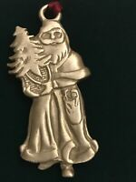 Longaberger Santa Claus Pewter Christmas Ornament Kriss Kringle Vintage