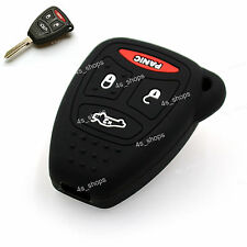 Black Silicone Shell Remote Key Cover for JEEP Commander Grand Cherokee Liberty