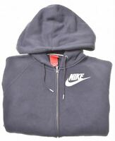 NIKE Boys Hoodie Sweater 15-16 Years Medium Black Cotton  LJ07