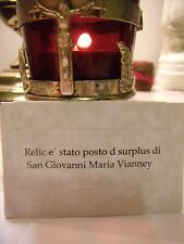 St. John Marie Vianney Sealed Relic Pouch Surplace Reliquary + Prayer.