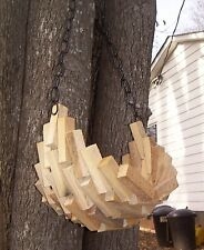 2 Home and Garden Hanging Wooden Moon Planter Basket