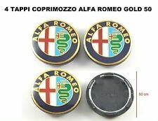 Loghi ruota 4x tappetti coprimozzo 50mm Alfa Romeo MiTo 147 GT 156 166