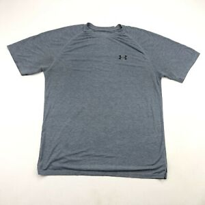 Under Armour Mens Heathered Gray Short Sleeve T Shirt Large *