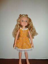 "PRETTY HOMEMADE FLOWERED DRESS OUTFIT FOR 18"" BFC INK DOLLS"