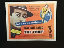 THE THIEF 1952 Lobby Card Set RAY MILLAND Cold War NOIR Not a word is spoken!