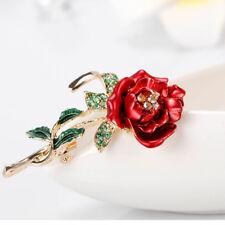 Elegant Rhinestone Rose Flower Shape Women Girl Brooch Pin Fashion Jewelry Gifts
