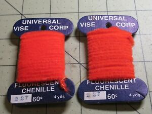 CHENILLE Universal Vice Fly Tying Jig Material NEW 227 Orange 8 Yards