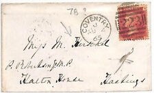 AT16 1865 GB *Herschel Family Correspondence* Coventry Cover Hastings ASTRONOMY