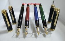 New Logo Black Blue Green Pelikan M800 Fountain pen 18k Gold Nib SALE !!!