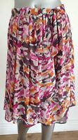 Marks & Spencer Skirt Size 10 Per Una Floral Chiffon Wrap Lined DM04 New