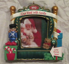 NEW 2012 Hallmark Our Visit With Santa Keepsake Ornament NIB