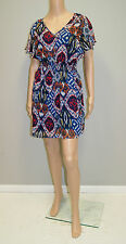 As You Wish Casual Dress in Sheer Mod Print W/ Shell Lining - Size Small