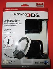 Stereo & Chat Headset 3DS-3DSXL-DSi-DSiXL - Works With PS4! New-Free Shipping