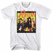 OFFICIAL Poison Rock Band Polaroid Photo Men's T Shirt Heavy Metal Merch