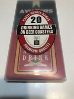Crazy Coyote 20 Drinking Games on Coasters New in Box