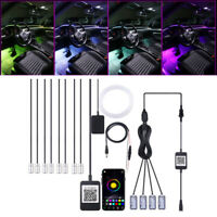 10M RGB Car Interior Atmosphere Light 12 in 1 Foot Lamp Fiber Optical Strip Lamp