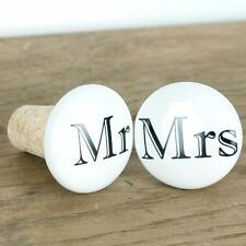 Wine Stopper Champagne Wedding Engagement Bottle Cork Mr Mrs Gift Stop Gifts Red