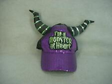Disney Parks MALEFICENT Monster At Heart Halloween Ear Hat Baseball Cap NWT