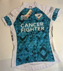 NWT New Primal Miami Dolphins Cancer Fighter Women's S/S Cycling Jersey Size L
