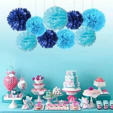"9PCS Mixed 8"" 10"" Paper Pom Pom Flower Ball Garland Wedding Party Hanging Decor"