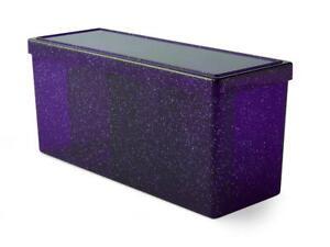 "Card Deck Storage Dragon Shield 4 Compartment Box Night Blue 8 1/2""x 4""x 3"""