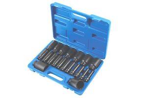 DEEP AIR IMPACT SOCKET SET 20pce 1/2 DRIVE 12Point Double Cut Socket 10mm - 38mm