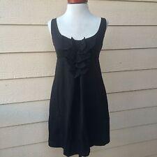 Diane Von Furstenberg Adalina Dress Sheath Bow Ruffle Pockets Black Sz 4