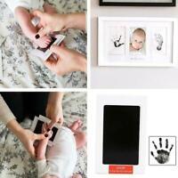 Black Ink Pad Inkpad Rubber Stamp Finger Print Craft Baby Non-Toxic Safe L2J0
