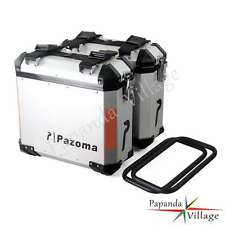 36L Aluminium Motorcycle Panniers Side Cases For 2009-2012 BMW F800R Pazoma Logo