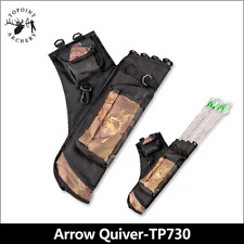 Archery Arrow Holders 4 Tube Bag Back Side Waist Quiver Camo Hunting Sport