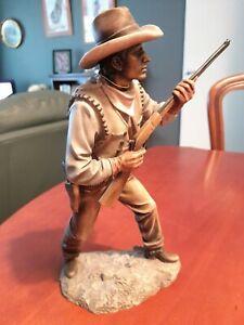 """Superb """" Young Gun"""" Cowboy Cold Cast Figurine by Leonardo"""
