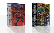 Shining Force 3 Estuche de reemplazo de Sega Saturn + Caja Cubierta de obras de arte sin juego