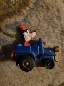 "1988 Goofy Pull-Back Car 2"" McDonalds #3 Plastic Action Figure Toy Disney"