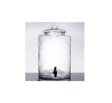 5 Gallon Hammered Glass Beverage Dispenser