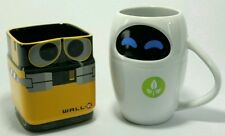 NEW DISNEY STORE EXCLUSIVE WALL E & EVE MUG PIXAR CERAMIC  WALL-E ROBOT 3D CUP