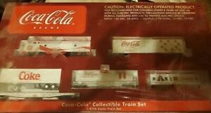 HO scale Coca Cola train set, with power supply, and train tracks!!!***SEALED***