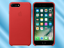 Red Apple 100 Original Natural Leather Case for iPhone 7 Plus