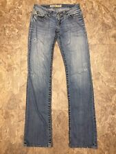 Big Star Sz 24L Sweet Boot Bootcut Ultra Low Rise Destroyed Distressed 24x32
