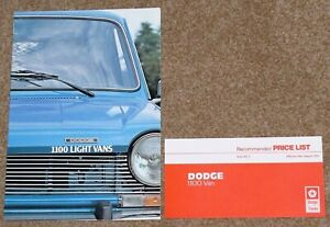 1976 DODGE 1100 VAN & PICK UP Sales Brochure & Price List - Mint Condition!